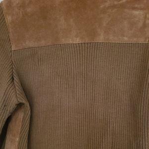 Rene Derby Suede Sweater/Leather jacket L
